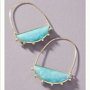 Anthropologie Farin crescent hoop earring